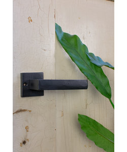 Industriële deurklink - Mat zwart