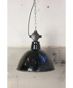 Stoere hanglamp 'Black hood M'