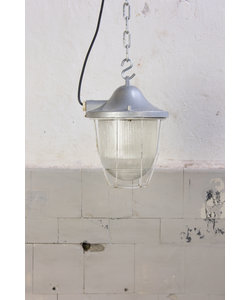Industriële kooilamp 'Babka' - Silver