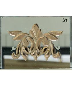 40 x 30 cm - Decoratief spiegelglas No. 32