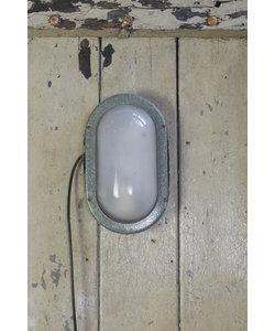Ovalen wandlamp - Dark grey