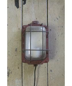 Stoere wandlamp 'Caged Lipec' Rood