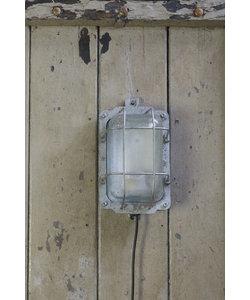 Stoere wandlamp 'Caged Lipec' Silver