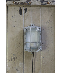 Stoere wandlamp 'Caged Lipec' Zilver