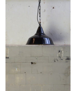 Emaille hanglamp - Zwart