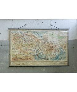 Oude landkaart - Tsjecho-Slowakije republiek