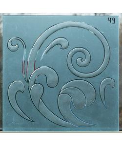 40 x 40 cm - Figuurglas No. 49