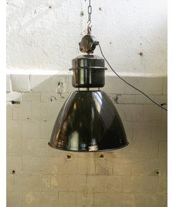 Oude fabriekslamp 'Vestec' Donkergrijs emaille