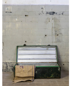 Groene metalen kist 'rakev' - Small