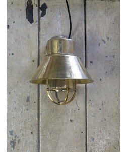 Messing wandlamp 'Hooded Mosaz'