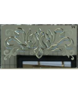 60 X 34 cm - Decoratief glas No. 54