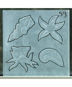 20 x 20 cm - Figuurglas No. 59