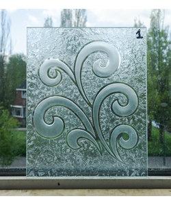 25 x 20 cm - Geëtst glas No. 1