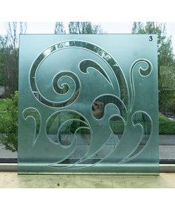 40 x 40 cm - Geëtst glas No. 3