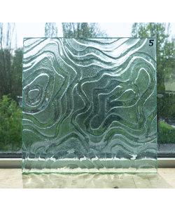 30 x 30 cm - Structuurglas No. 5