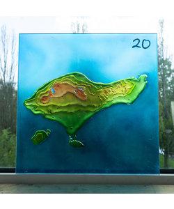 30 x 30 cm - Decoratief glas No. 20 Bali