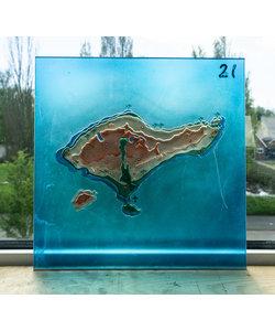 30 x 30 cm - Decoratief glas No. 21 Bali