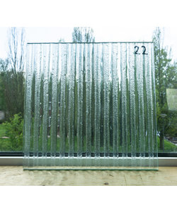 29,2 x 30 cm - Structuurglas No. 22