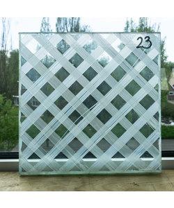 25 x 25 cm - Decoratief glas No. 23
