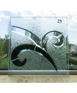 30 x 30 cm - Decoratief glas No. 29