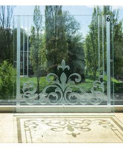 30 x 30 cm - Geëtst glas No. 6