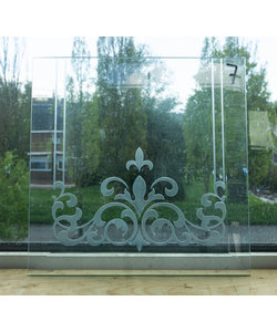 30 x 30 cm - Geëtst glas No. 7