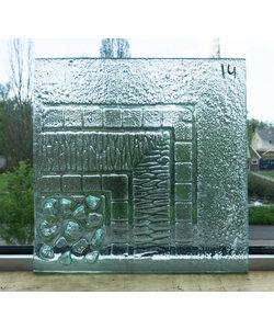32 x 32 cm - Structuurglas No. 14