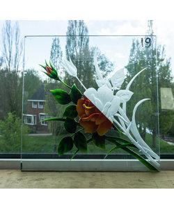 30 x 30 cm - Geëtst glas No. 19