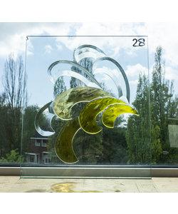 32 x 28 cm - Decoratief glas No. 28