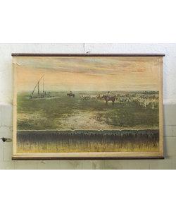 Vintage schoolplaat - Landschap&bodemtype