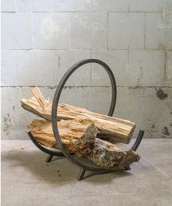 Metalen rek - Tijdschriften/hout