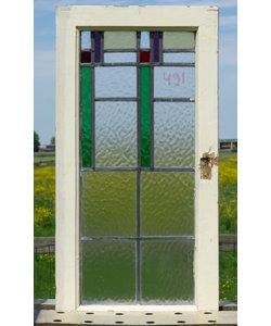 77,5 x 40 cm - Glas in lood raam No 491