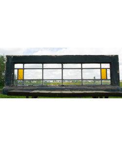 83 x 28 cm - Glas in lood raam No. 489