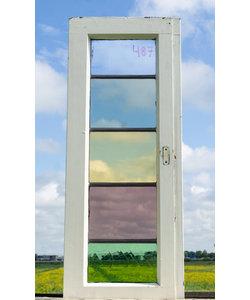 77,5 x 30,5 cm - Glas in lood raam No. 487