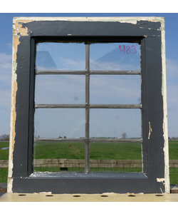 50 x 43,5 cm - Glas in lood raam No. 483