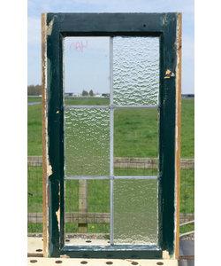 71,5 x 38,5 cm - Glas in lood raam No. 480