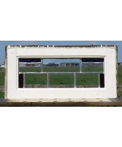 28,5 x 57 cm - Glas in lood raam No. 477