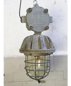 Industriële kooilamp 'Bully Caged' - Zilver