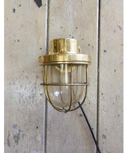 Messing wandlamp 'Caged Mosaz'
