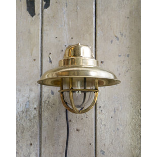Messing wandlamp ' Hooded Mosaz 2.0'