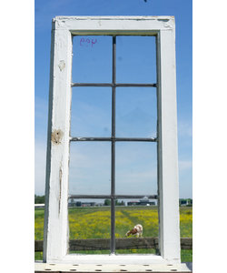 84,5 x 49,6 cm - Glas in lood raam No. 499
