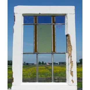 61,2 x 44,2 cm - Glas in lood raam No. 493