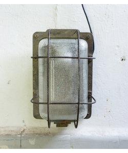 Industriële wandlamp 'Caged Lipec' Grijs