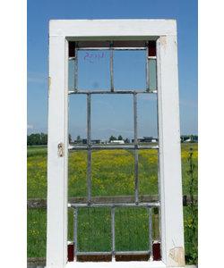 77,5 x 39,5 cm - Glas in lood raam No. 495