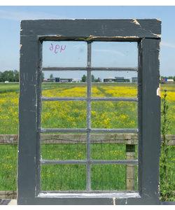 60 x 43 cm - Glas in lood raam No. 496