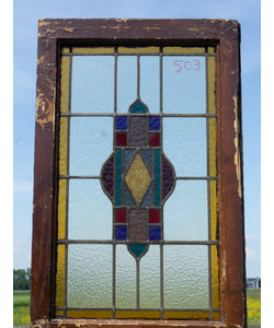 84,5 x 54,5 cm - Glas in lood raam No. 503