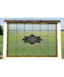 79,5 x 111 cm - Glas in lood raam No. 502