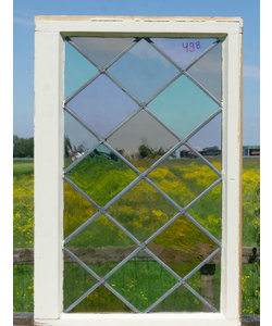 81 x 53 cm - Glas in lood raam No. 498