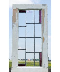 79 x 40,5 cm - Glas in lood raam No. 510
