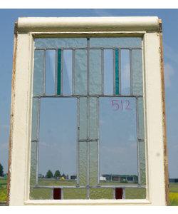 71 x 53 cm - Glas in lood raam No. 512